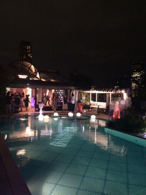 「DISARONNO TERRACE」のパーティ@青山ラピュタガーデン