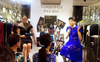 「TADASHI SHOJI(タダシ ショージ)」ファッションショー&コーディネートトークショーに登壇 @ 伊勢丹新宿店