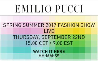 EMILIO PUCCI(エミリオ・プッチ)2017春夏コレクション ランウェイショーをライブ配信