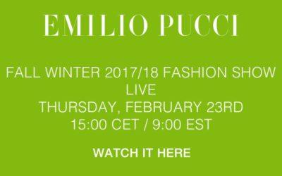 EMILIO PUCCI(エミリオ・プッチ)2017-18秋冬コレクション・ランウェイショー ライブストリーミング