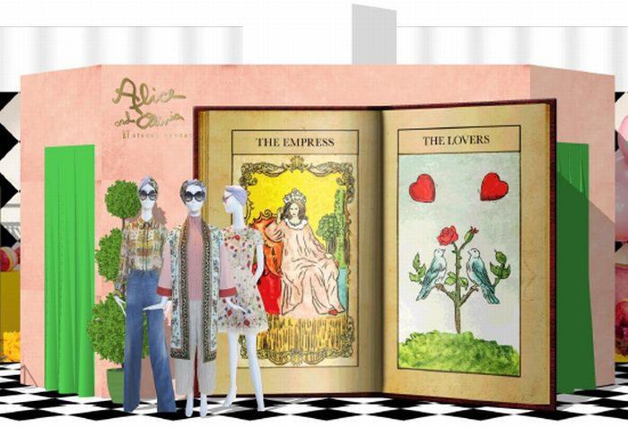 「アリス アンド オリビア」、阪急うめだ本店にポップアップストアをオープン 特製フォトブースも登場
