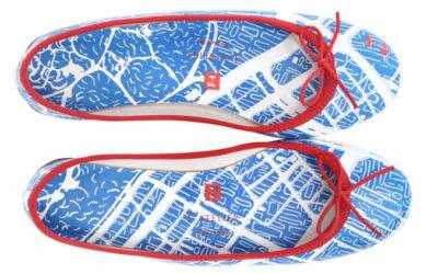「Repetto(レペット)」のセミオーダーに東京の地図をあしらったスペシャルプリント登場