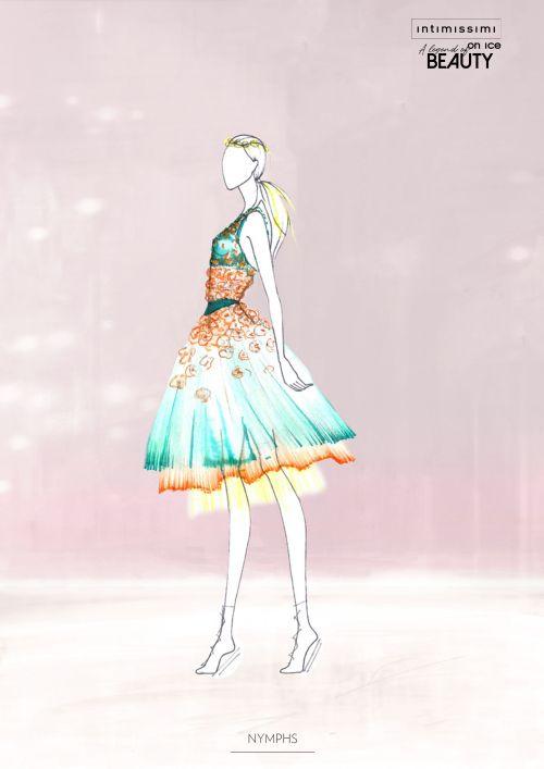 アイスショー「intimissimi on ice」の全貌 キアラ・フェラーニによる衣装デザイン・スケッチ公開