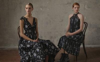 「ERDEM x H&M」コラボレーション 「ダークフラワー柄」を着こなす
