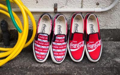 Coca-Cola(コカ・コーラ)のロゴ入りのスリッポンが登場、atmosで取り扱い