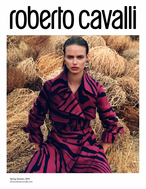 「Roberto Cavalli(ロベルト カヴァリ)」、2018年春夏シーズンの広告キャンペーンを発表