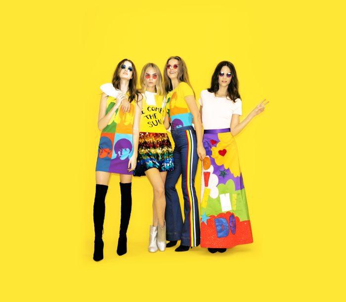 「alice + olivia(アリス アンド オリビア)」、ザ・ビートルズと連携したカプセルコレクションを発表