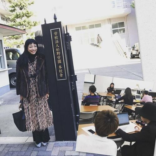 杉野服飾大学で講義