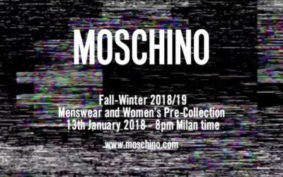 MOSCHINO(モスキーノ)2018-19秋冬メンズ&ウィメンズ プレコレクション・ランウェイショー ライブストリーミング