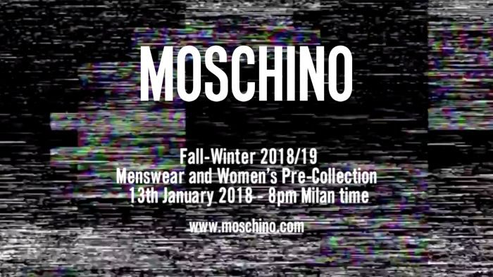 MOSCHINO(モスキーノ)2018春夏コレクション・ランウェイショー ライブストリーミング