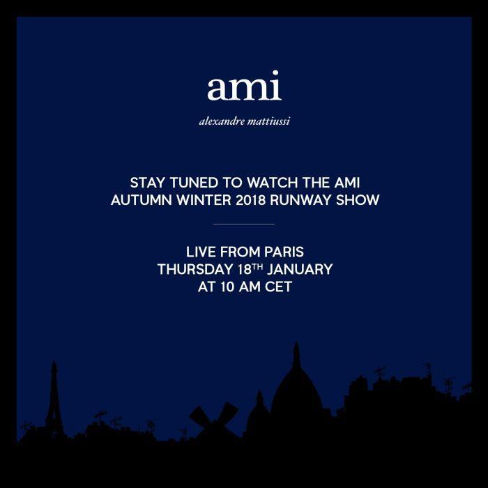 ami alexandre mattiussi(アミ アレクサンドル マテュッシ)2018秋冬コレクション・ランウェイショー ライブストリーミング