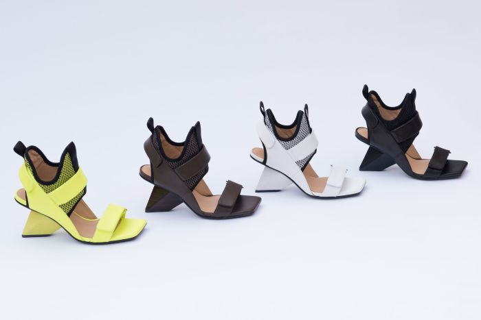 「ISSEY MIYAKE × UN」から2018年春夏コレクションの新型シューズ発売