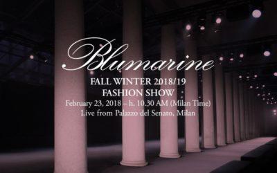 BLUMARINE(ブルマリン)2018-19秋冬コレクション・ランウェイショー ライブストリーミング
