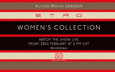 ETRO(エトロ)2018-19秋冬コレクション・ランウェイショー ライブストリーミング