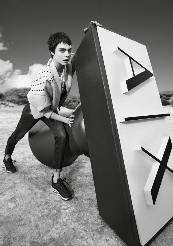 「A|Xアルマーニ エクスチェンジ」、2018年春夏キャンペーンにカーラ・デルヴィーニュたち3人を再び起用