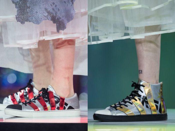 「AVANT CONVERSE(アヴァン コンバース)」のメタリック靴で旬な足元をつくる
