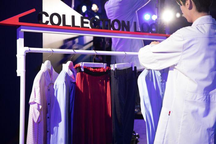「LANVIN en Bleu(ランバン オン ブルー)」がランウェイパフォーマンスを開催 パナソニック 衣類スチーマーとコラボ