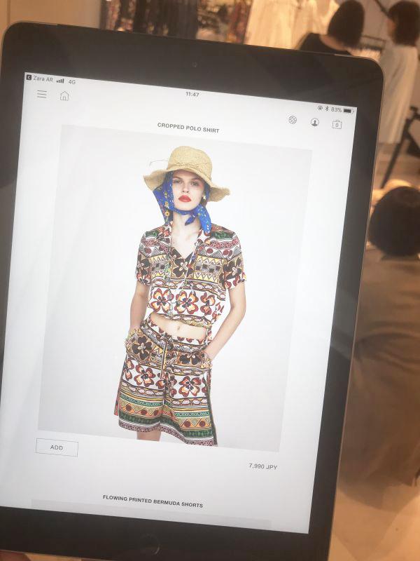 ZARA AR(拡張現実)「SHOP THE LOOK」を体験 スマホを向けるとモデルが登場
