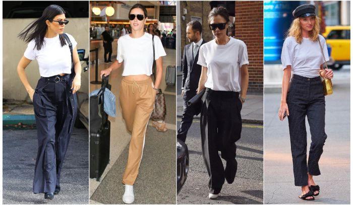 「白Tシャツ1枚」でオシャレ!セレブの休日リッチカジュアル5選