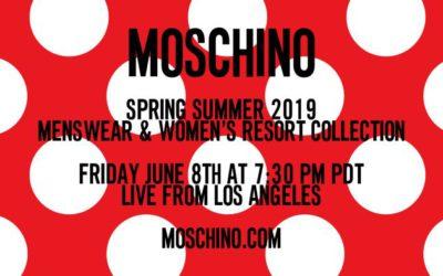 MOSCHINO(モスキーノ)メンズ2019春夏・ウィメンズ2019リゾートコレクションランウェイショー ライブストリーミング