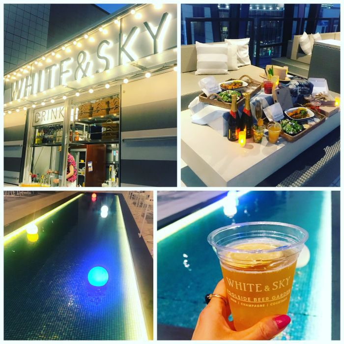 「WHITE & SKY ‐POOLSIDE BEER GARDEN」オープニング