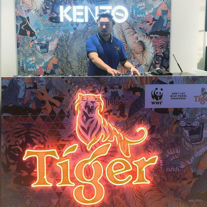 KENZO×WWF×TIGER BEER限定コレクション「RARE STRIPES」のローンチパーティ