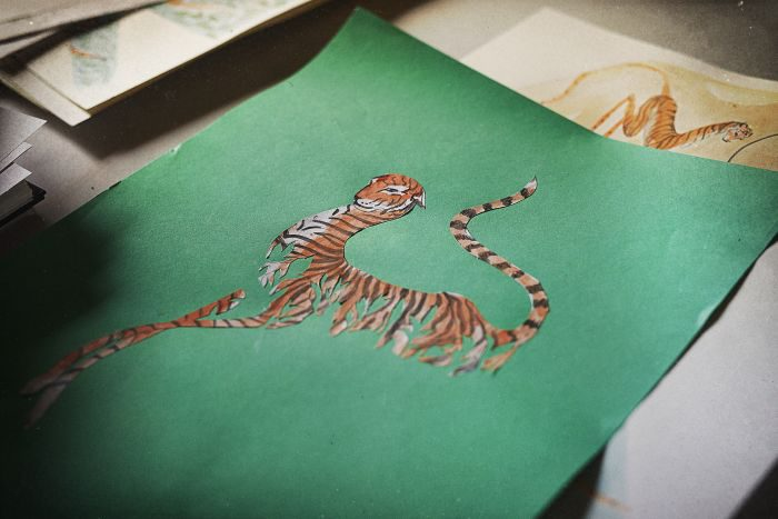 「KENZO(ケンゾー)」、野生トラがモチーフのコレクション発売 トラ保護に収益を寄付