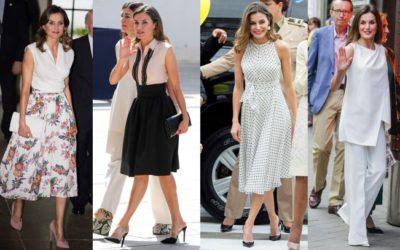 猛暑日でも爽やかに魅せる「ノースリーブ」の着こなし4選 レティシア王妃がお手本