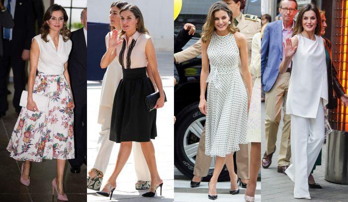 猛暑日でも爽やかに魅せる「ノースリーブ」の着こなし4選 レティシア王妃がお手本!