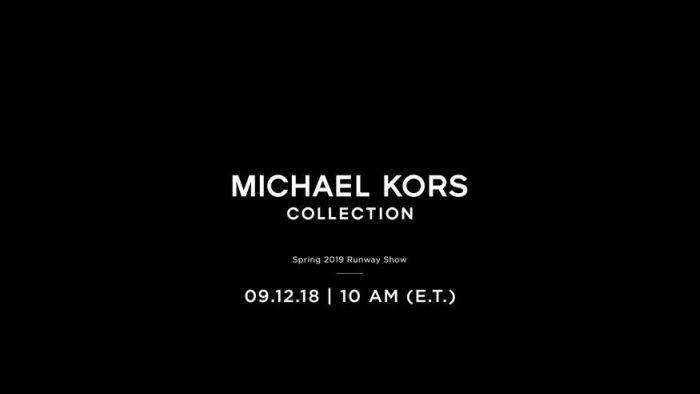 MICHAEL KORS COLLECTION(マイケル・コース コレクション)2019スプリングコレクション・ランウェイショー ライブストリーミング