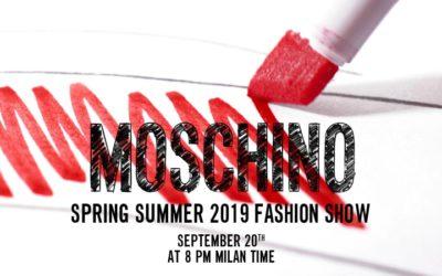 MOSCHINO(モスキーノ)2019年春夏コレクション・ランウェイショー ライブストリーミング