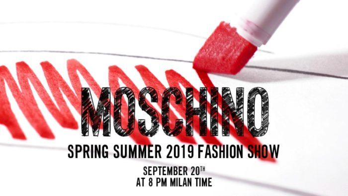 MOSCHINO(モスキーノ)2019春夏コレクション・ランウェイショー ライブストリーミング
