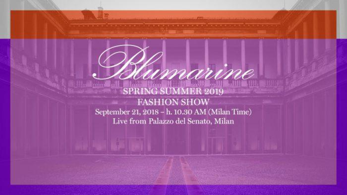 Blumarine(ブルマリン)2019春夏コレクション・ランウェイショー ライブストリーミング