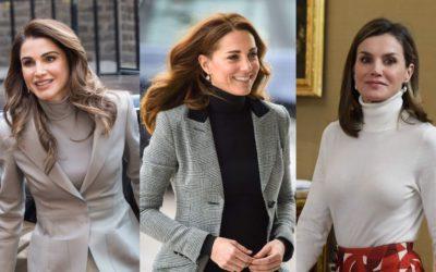 世界の美人王妃は「黒・白・グレーのハイネック」を愛用!洗練された4人の着こなしを徹底比較