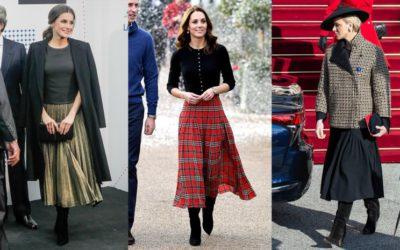 美人王妃がお手本!着膨れしない「ロングスカート×黒ロングブーツ」の黄金比率を公開