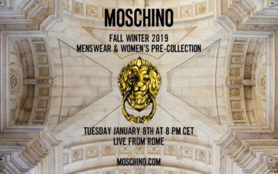 MOSCHINO(モスキーノ)2019年秋冬メンズコレクション&ウィメンズプレフォールコレクション・ランウェイショー ライブストリーミング