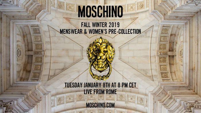 MOSCHINO(モスキーノ)2019年秋冬メンズコレクション・ランウェイショー ライブストリーミング