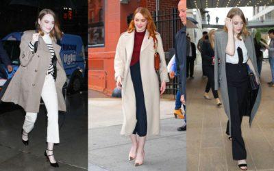 女優、Emma Stone(エマ・ストーン)に学ぶ!絶対に着膨れしない「真冬のコートスタイル」5選
