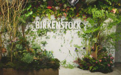 「BIRKENSTOCK(ビルケンシュトック)」、フラワーアート エキシビションを開催 アーカイブも特別展示
