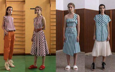 オフィスの夏服はストライプ ワンピースもシャープに~イタリア発「TELA(テラ)」