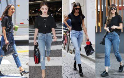 白Tシャツより引き締まって見える!海外セレブは「黒Tシャツ×ジーンズ」がお気に入り