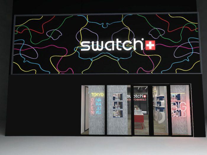 「スウォッチ ポップアップストア 原宿」が東京・原宿にオープン 「BIG BOLD(ビッグボールド)」を特集