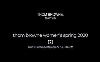 THOM BROWNE(トム ブラウン)2020年春夏ミラノコレクション・ランウェイショー ライブストリーミング