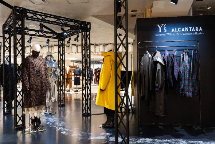 「Y's(ワイズ)×ALCANTARA(アルカンターラ)」のコラボコレクションを発売 伊勢丹新宿店で期間限定ショップ