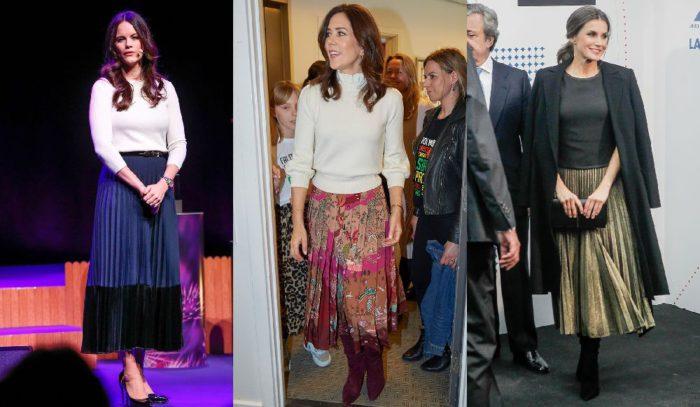王妃や王女が愛する「細身感を引き出すプリーツスカート」を使った、ノーブルなお仕事スタイル5選