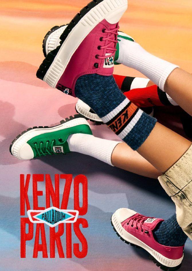 「KENZO(ケンゾー)」、フランスのシューズブランド「PALLADIUM(パラディウム)」とコラボ