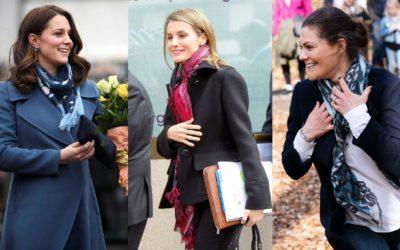キャサリン妃やマキシマ王妃に学ぶ!冬スタイルを格上げする「スカーフ術」5選