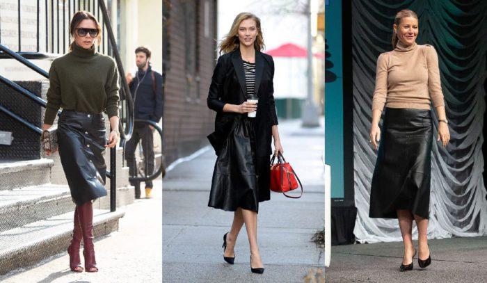 「黒レザースカート」一枚あればリッチに見える!海外セレブ流クールなお仕事スタイル5選