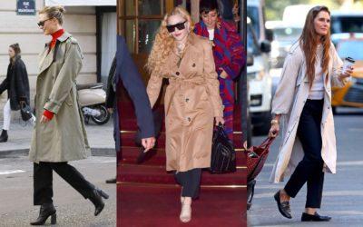 トレンチコートを新鮮に見せたいなら「黒パンツ×靴」コーデ!海外セレブ流「トレンチの最新着こなし」6選