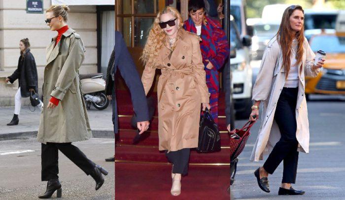 トレンチコートを新鮮に見せたいなら「黒パンツ×靴」コーデしかない!海外セレブ流「トレンチの最新着こなし」6選